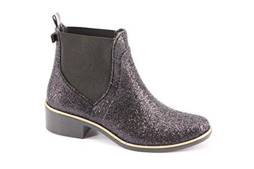 Kate Spade New York Womens Sedgewick Rain Boot Black Glitter