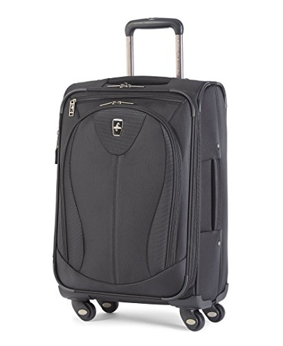 Atlantic Luggage Ultra Lite 3 21 Inch Expandable Spinner, Black, One ()