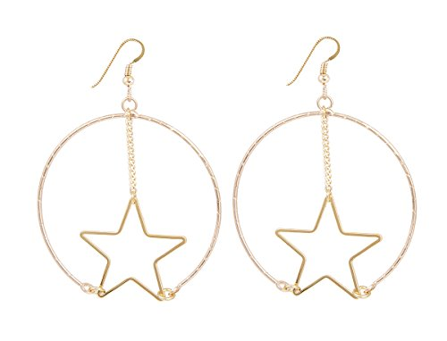 Lucky Star Jewels Women's Gold Superstar Earrings Lucky Star Jewels