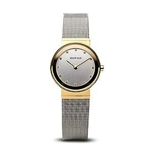 BERING Reloj Analógico para Mujer de Cuarzo con Correa en Acero Inoxidable 10122-001