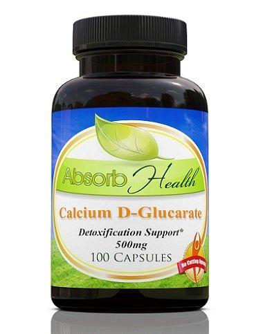 Calcium D-Glucarate | Detoxifies Excess Estrogen | 500mg 100 Capsules Review