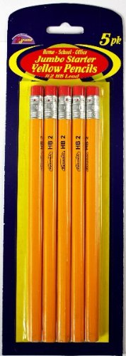 Jumbo Yellow Pencils 72 pcs sku# 1457745MA by DDI