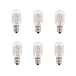 Maymii.Home 6 Pack 15Watt 15W E12 Lamp Bulbs For Himalayan Salt Lamp, Microwave Oven Light Bulb, Night Ligh Bulb, E12 Light Bulb, E12 Socket candelabra Incandescent Bulbs, Replacement Light Bulbs