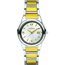 Roamer of Switzerland Men's 507980 48 15 50 Swiss Elegance Gold IP Tungsten Carbide Date Watch