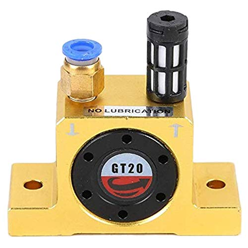 - SODIAL Pneumatic Turbine Vibrators, Silent Industrial Vibrator With Free Muffler For Hopper - Gt-20 / G 1/4, Yellow