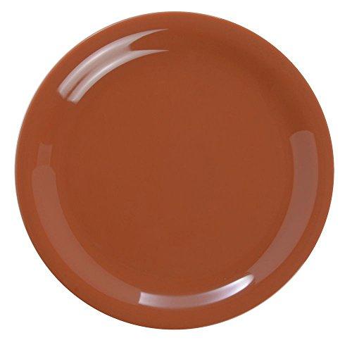 - G.E.T Diamond Harvest Narrow-Rim Pumpkin Melamine Salad Plate - 7 1/4