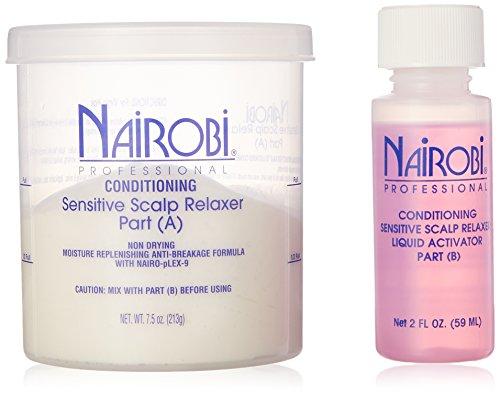 Nairobi Conditioning Sensitive Scalp Hair Relaxer Kit, 4 Count