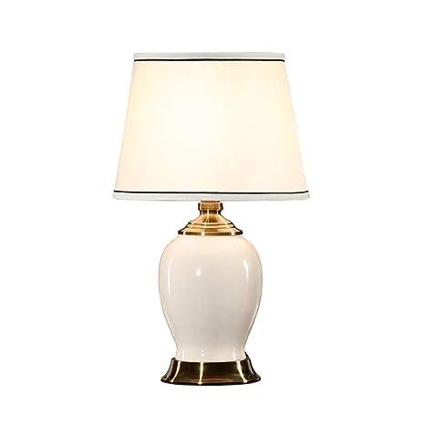 FUSKANG Minimalista de cerámica lámpara de mesa europea ...