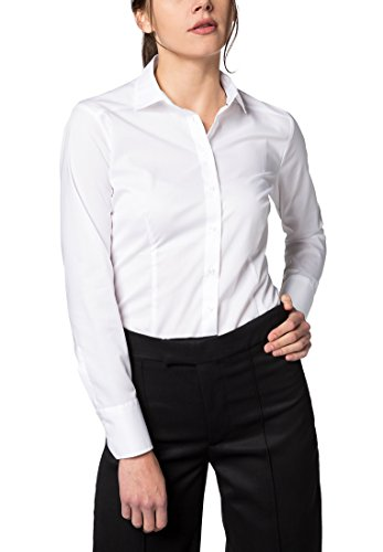 Fit Sleeve Bianco Blouse Long Eterna Slim Uni wIx1zy