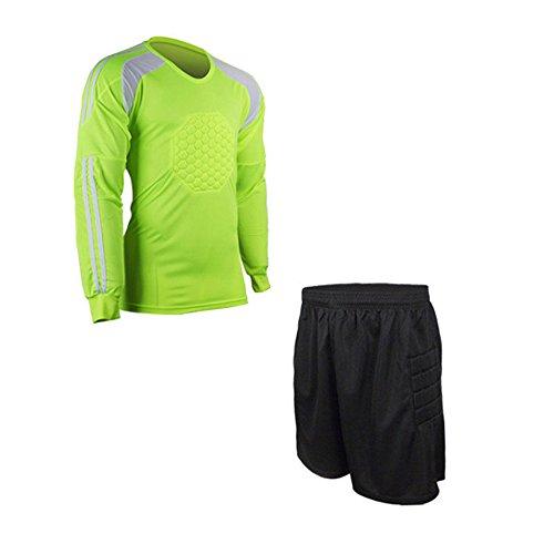 4eaa82e8cdc RUNSTAR Mens Football Goalkeeper Soccer Shorts Shirt Keeper Foam Padded  Jersey Uniforms