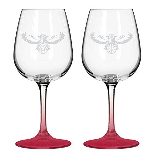 NBA Atlanta Hawks Wine Glass, 12-ounce, 2-Pack - Atlanta Hawks Glass