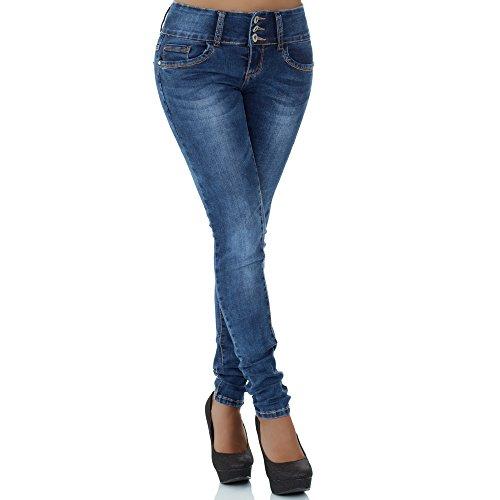 mujer Vaqueros Azul skinny para malucas nw4Og6zqc