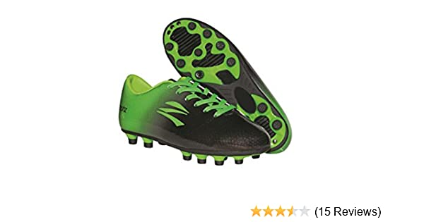 ff9ffa93e8d Amazon.com  zephz Wide Traxx Black Lime Green Soccer Cleat Youth  Sports    Outdoors