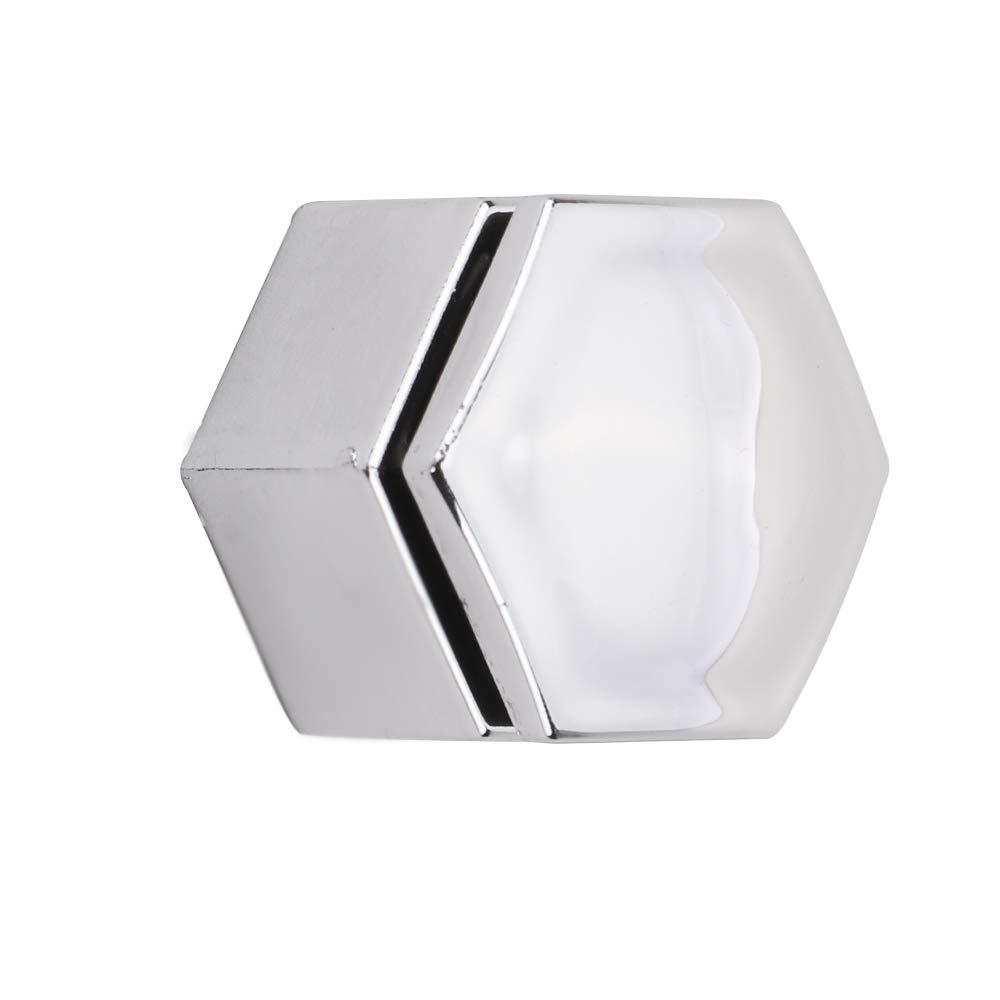 Ballshop 20Pcs 22mm Chrome Silver Alloy Wheel Nut Bolt Covers Caps Universal Set For Car