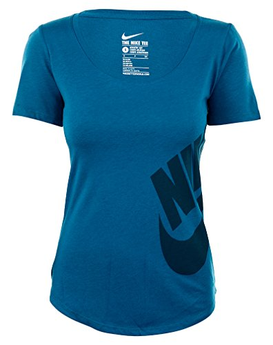 Nike Futura Graphic Scoopneck Tee Womens Green Abyss / Green Abyss / Mezzanotte Turchese