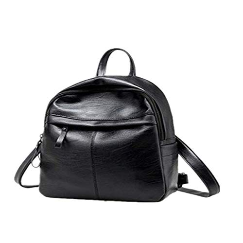 Women's Fashion Leather Simple School Bag Travel Backpack Bag
