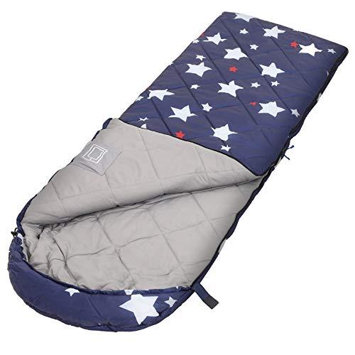 SONGMICS Schlafsack, Deckenschlafsack für Camping, kompakt, mit Sternenmuster