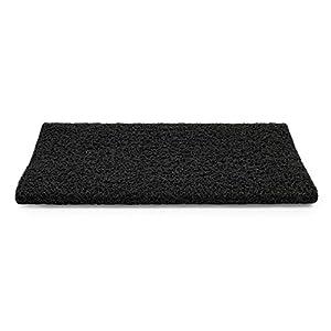 "Camco 42962 Black Premium Wrap Around RV Step Rug (PVC Material (17.5"" x 18""))"