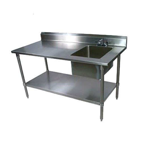 John Boos EPT8R5-3072GSK-R Work Table With Sink(s) - 72'' Stainless Steel by John Boos