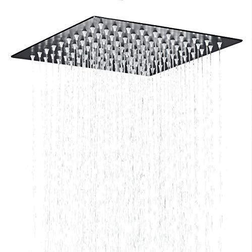(Hiendure Stainless Steel Bathroom Square Rainfall Shower Head 12 Inch,oil Rubbed Bronze)