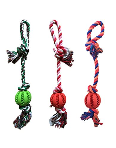 Dog Rope Chew Toys with Ball - 1 (1 Dog Toy)