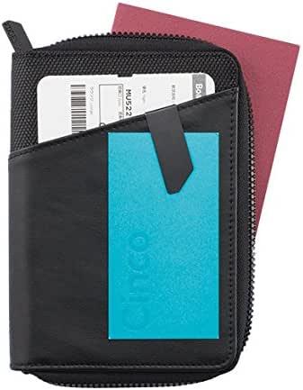 XD DESIGN Komo Leather Passport Case Holder, 15 cm, Black