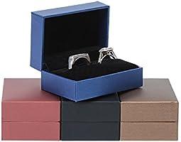 JUNGEN® Caja para Dos Anillos Organizador de Joyero Joyas, Estuche de joyería con Interior de Franela Caja de Almacenamiento Boda Regalo (Negro): Amazon.es: Hogar