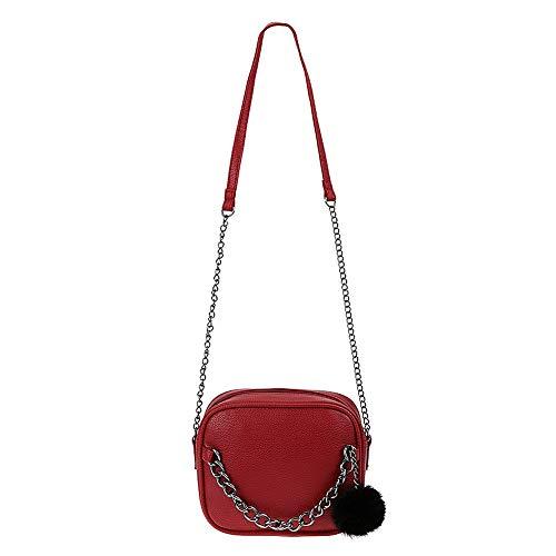 de la las de de de del con mensajero del bolso diseñador mujeres bolso Aprigy las mujeres bolsos cuero mujeres de del del de PU Rojo las bolso la Crossbody fe de juguete Pequeña cadena la del hombro bola RwqxZA8