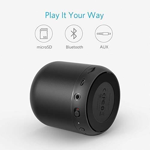 Anker SoundCore Mini Tarjetas Micro SD y Rango de conexi/ón de 20 Metros Reacondicionado Certificado Altavoz Bluetooth port/átil Compacto Recargable con 15 Horas de reproducci/ón Radio FM