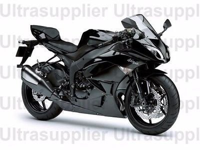 Amazon.com: Gloss Black Fairing Bodywork Injection for 2009 ...