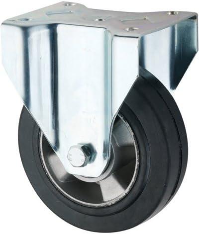 250mm 800KG Fixed Castor with Elastic Aluminium Wheel