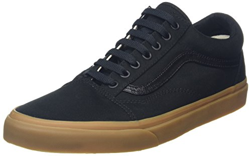 Vans Unisex Old Skool (Canvas Gum) Black/LghtGm Skate Shoe 12 Men (12 Gums)
