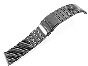 Amazoncom 26mm Watch Bracelet Watchband Multi Colored Silver Black