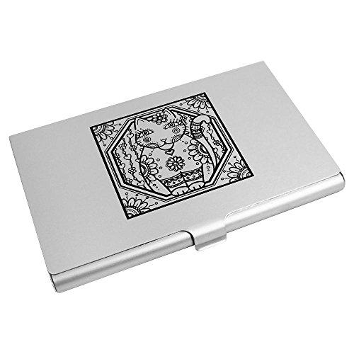 Motif' Credit Business Holder Wallet CH00004875 Card Card Azeeda Cat 'Hippie xq7RSwRYE