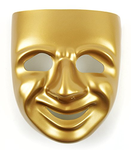 Mask-It Comedy Mask with Instruction Sheet, 7.75-Inch, (Theater Mask)