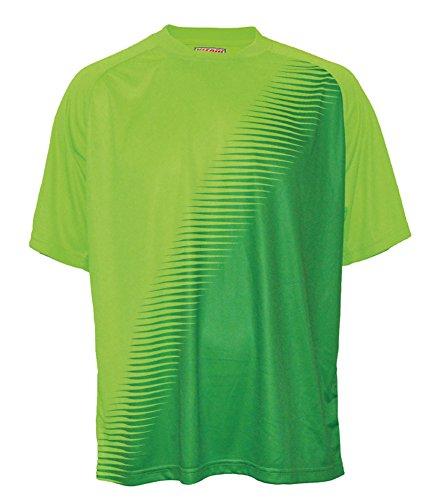 Vizari Youth Turin Short Sleeve Goalkeeper Jersey, Light Green/Dark Green, X-Large (Short Sleeve Goalie Jersey)