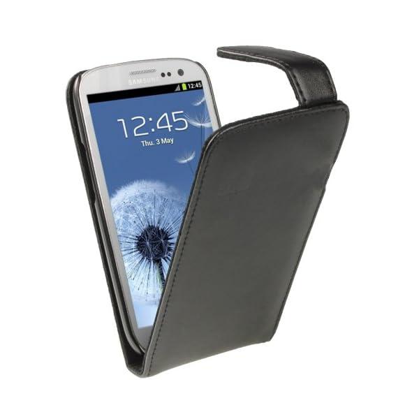 igadgitz Negro Funda de Piel Carcasa Case Cover para Samsung Galaxy S3 III i9300 Android Smartphone + Protector de… 10