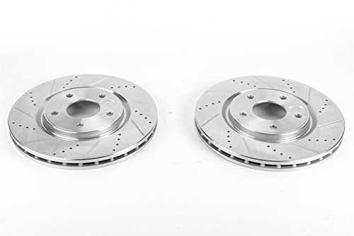 Power Stop AR83081XPR Front Evolution Drilled & Slotted Rotor Pair ()
