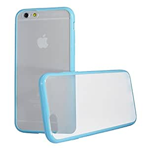 TOTALLEE Frostback Hybrid iPhone 6 (4.7 inch) Scratch Resistant Matte Clear Hard Back with Bumper (Sky Blue)