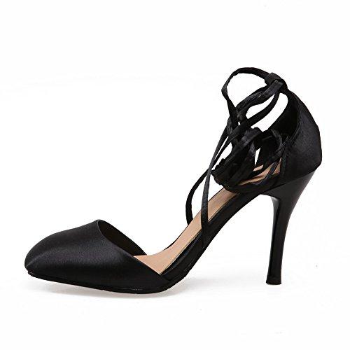 Noir Compensées Noir Sandales Femme 5 36 BalaMasa 5q1tFwC
