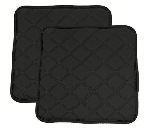 (Augld 2PC Waterproof Chair Pad Non-Slip Square Bar Stool Cushion 14 Inch Black)