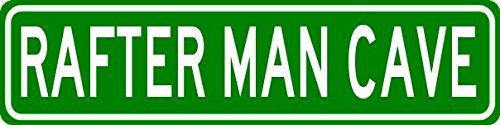 RAFTER MAN CAVE Personalized Last Name Street Sign - Heavy Duty - 9