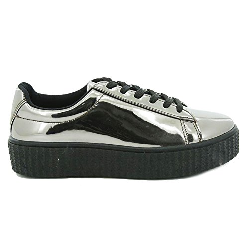 Casual Nuove Nero 27 Toocool Helena ginniche Specchio Lucide Sneakers Donna Queen Scarpe X17 xaxwYBqZU