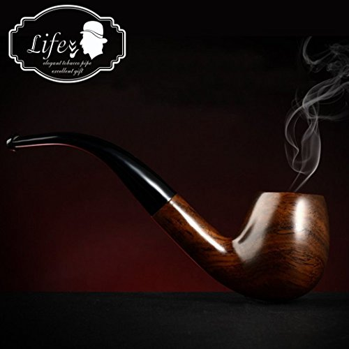 lifevv Tobacco Pipe Ebony Wooden Smoking Pipe With Accessories And Gift Package ()