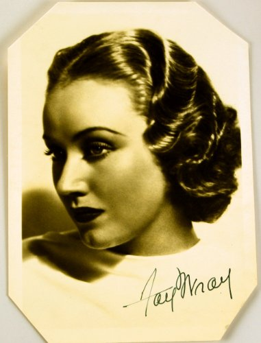 (c.1930s - Fay Wray Autographed Vintage 5x7 Photograph - Corners Trimmed - Star Of King Kong / Four Feathers / Vampire Bat / Queen Bee / The Cobweb / Dragstrip Riot - Very Rare - Collectible)