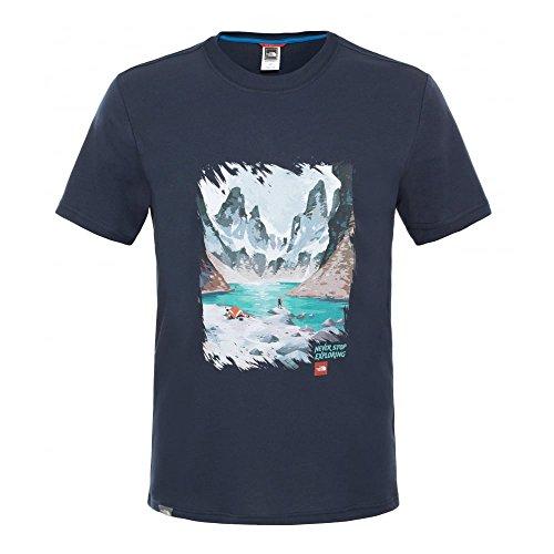 The North Face Short Sleeve NSE Series Mens T-Shirt L Urban Navy