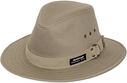 Panama Jack Original Canvas Safari Hat, 2 1/2