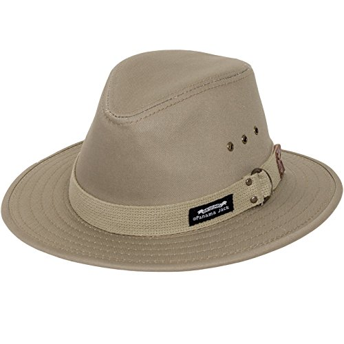 Panama Jack Men's Original Canvas Safari Sun Hat, 2 1/2
