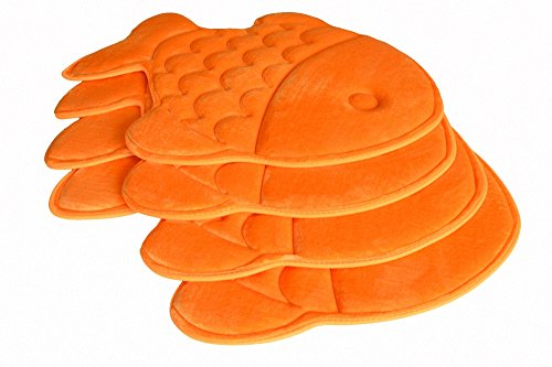 Hughapy Slow Rebound Memory Foam Children Bath Rug Christmas Fish Slip Resistant Coral Fleece Mat Doormat Carpet (Orange) by Hughapy (Image #4)