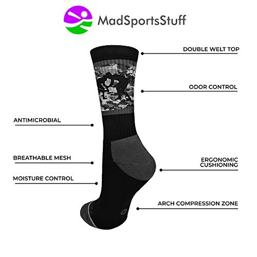 cdbfe55a11106 MadSportsStuff Fighting Wrestlers Athletic Crew Socks (Multiple ...